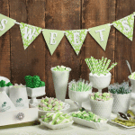 Candy buffet in het groen