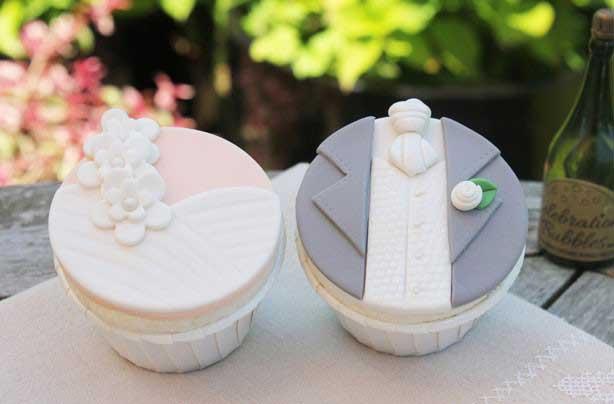 Bruiloft cupcakes