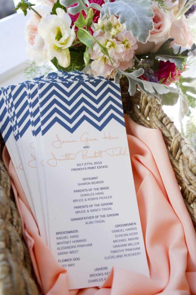 Chevron bruiloft uitnodigingen