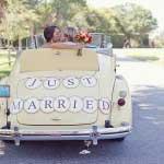 Auto met just married bordje