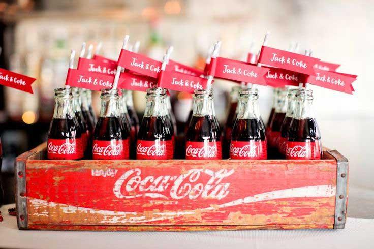 Coca cola op een retro bruiloft