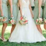 Bruidsmeisjes in de kleur mint