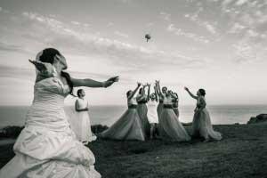 Bruidsboeket gooien