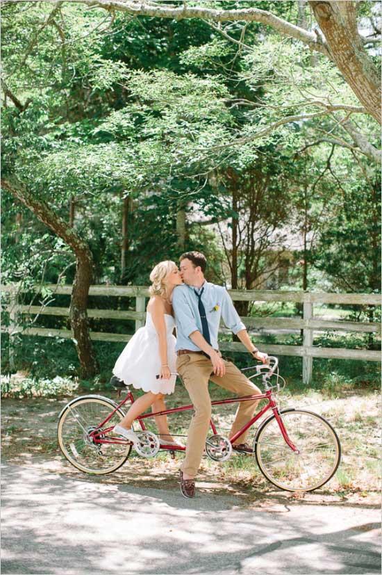 Fiets als trouwvervoer