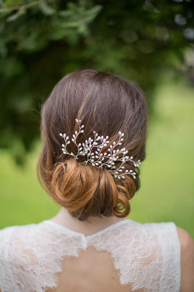 bruid haar accessoire