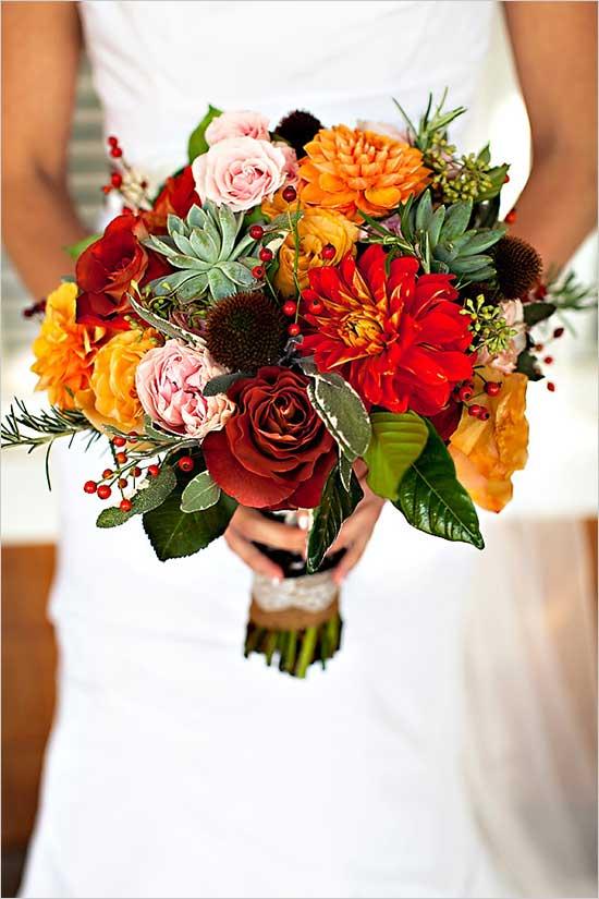 herfst bruiloft boeket