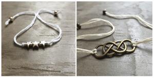 Twee armbandjes van Carrie Clover Designs