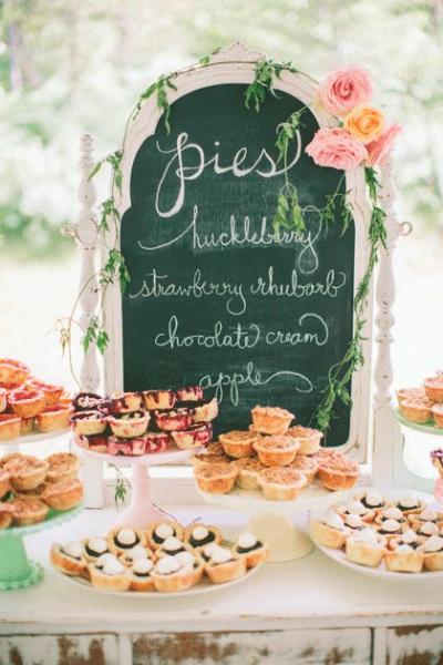 Verschillende soorten mini taartjes