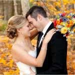 Bruidspaar in de herfst