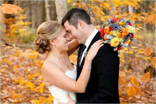 Redenen om te trouwen in de herfst bruiloft inspiratie