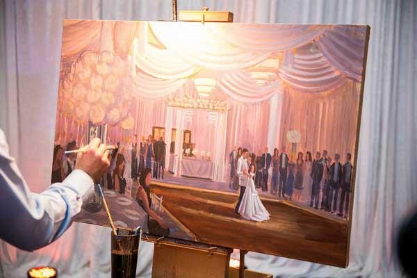 Een live schilder inhuren op jullie bruiloft bruiloft inspiratie - Idee schilderij living ...