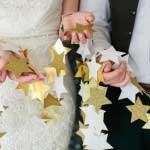 DIY sterrenslinger voor een winter bruiloft