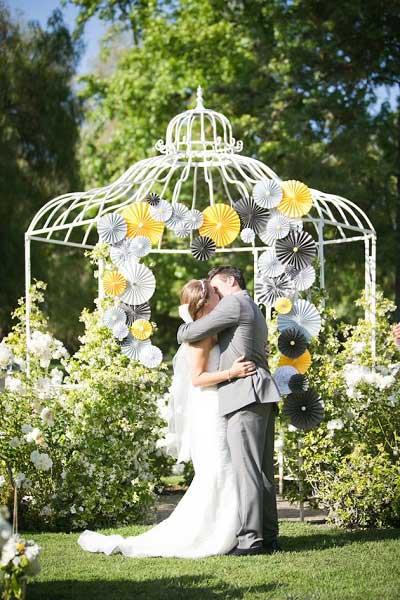 Pinwheels achtergrond trouwfoto