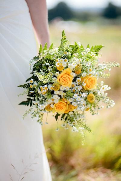 Geel bruidsboeket