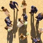 Bruiloft foto gemaakt met drone