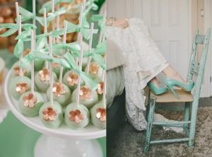 Mint bruiloft