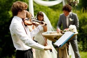 Live muziek tijdens trouwceremonie