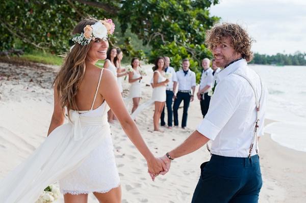Bruiloft in warm land