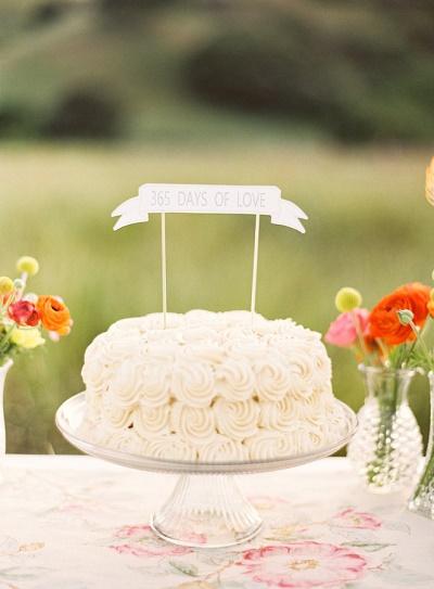 Bruidstaart eerste jubileum