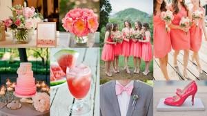 Kleurenthema bruiloft roze