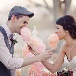 Zoete vintage suikerspin bruiloft