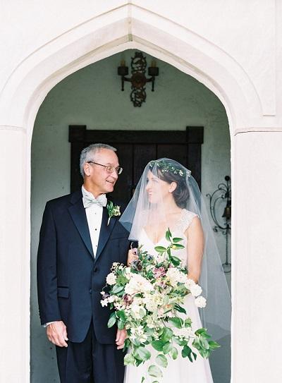 Bruid weggeven door vader