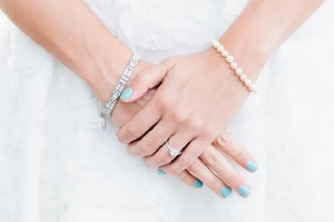 Blauwe bruidsnagels