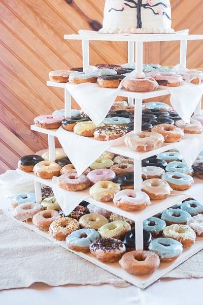 Bruiloft donuts