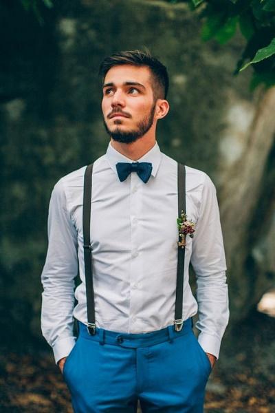 Bruidegom met bretels