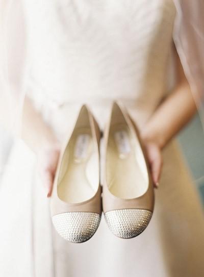 Platte trouwschoenen Jimmy Choo