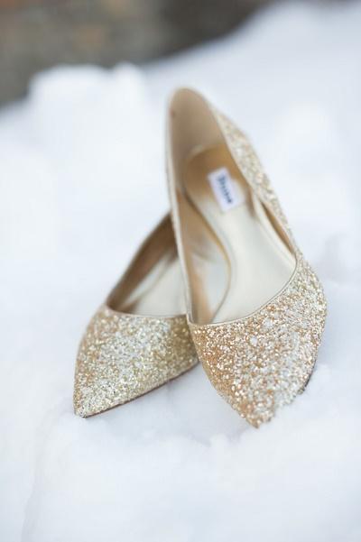 Gouden trouwschoenen