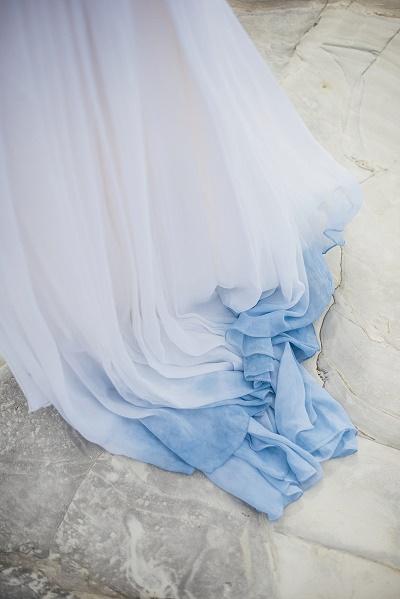 Ombre trouwjurk