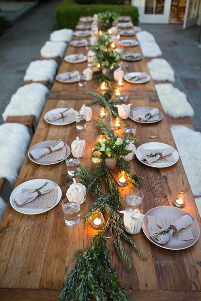 Scandinavische winter bruiloft