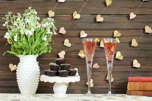DIY hartjesslinger op bruiloft