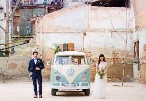 Volkswagen busje bruiloft