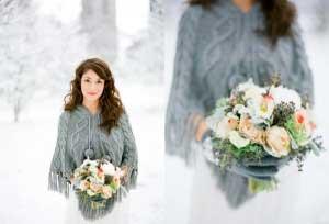 Warm tijdens winter bruiloft