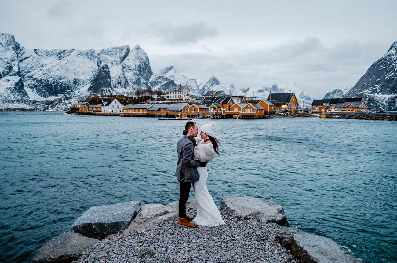 Bruidspaar in Noorwegen