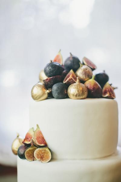 Bruidstaart met gouden vijgen