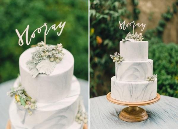 Marmerlook bruidstaart