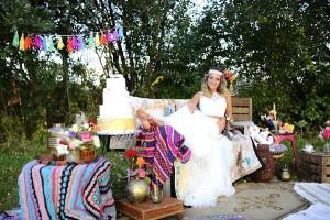 Kleurrijke, oosterse bruiloft