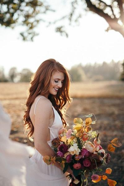 Roodharige bruid