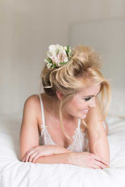 Boudoir fotoshoot bruid