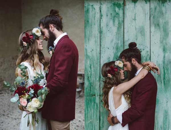 Bruidegom met knotje
