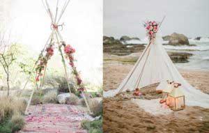 Tipitenten op bruiloft