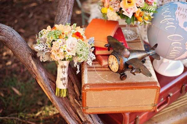 Vintage reizen bruiloft
