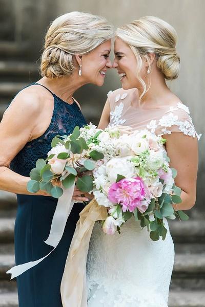 Bruid en haar moeder