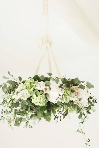 Hoepel met bloemen