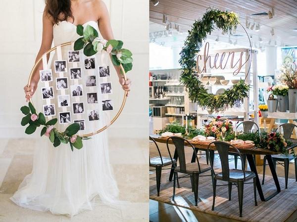 Leuk diy project hoepel als bruiloft decoratie bruiloft for Decoratie bruiloft zelf maken