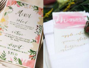Handlettering bruiloft