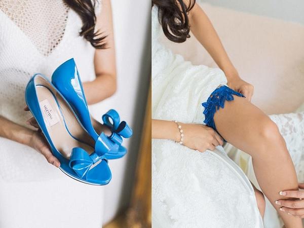 Something blue bruiloft